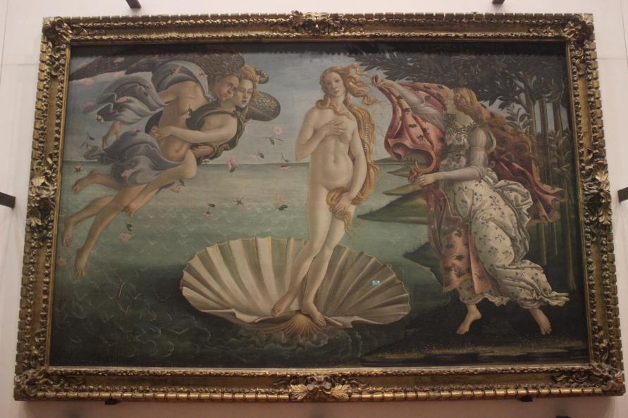 Het beroemde schilderij de geboorte van Venus van Boticelli