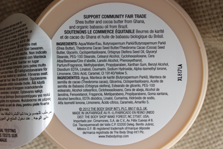 Helpt dit mijn huid de winter door? The Body Shop Body Butter Beautybitsblog.com