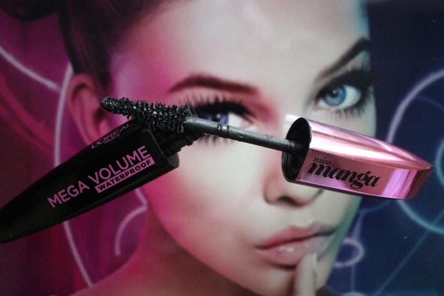 L'Oréal Miss Manga Waterproof Mascara   Review Beautybitsblog.com