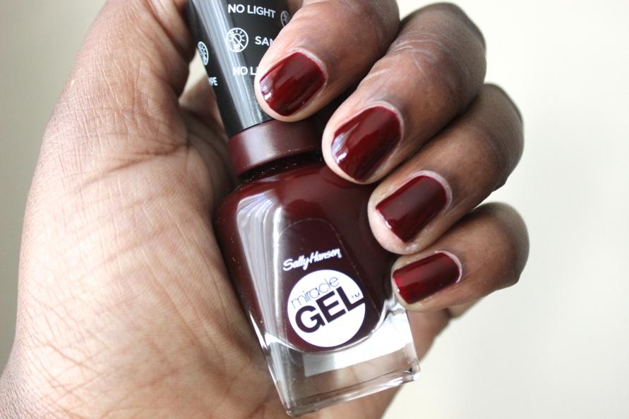 Sally Hansen Miracle Gel - Wine Stock | Review BeautyBitsBlog.com
