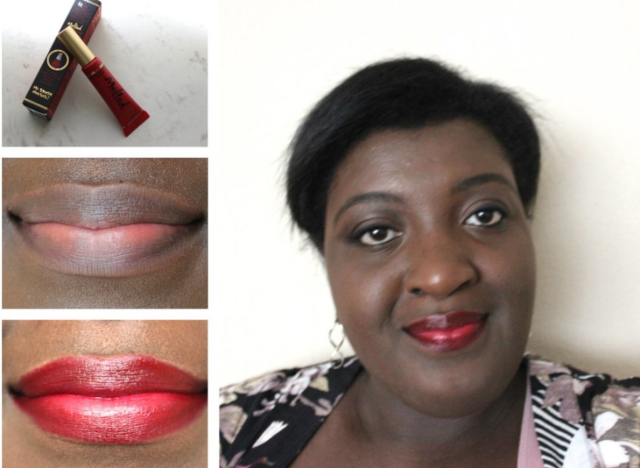 Too Faced Melted Liquified Long Wear Lipstick- Melted Ruby | Review BeautyBitsBlog.com