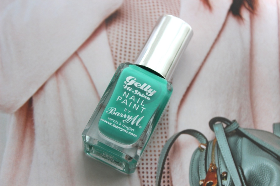 Barry M Gelly Hi Shine nagellak - Kiwi | Review BeautyBitsBlog.com