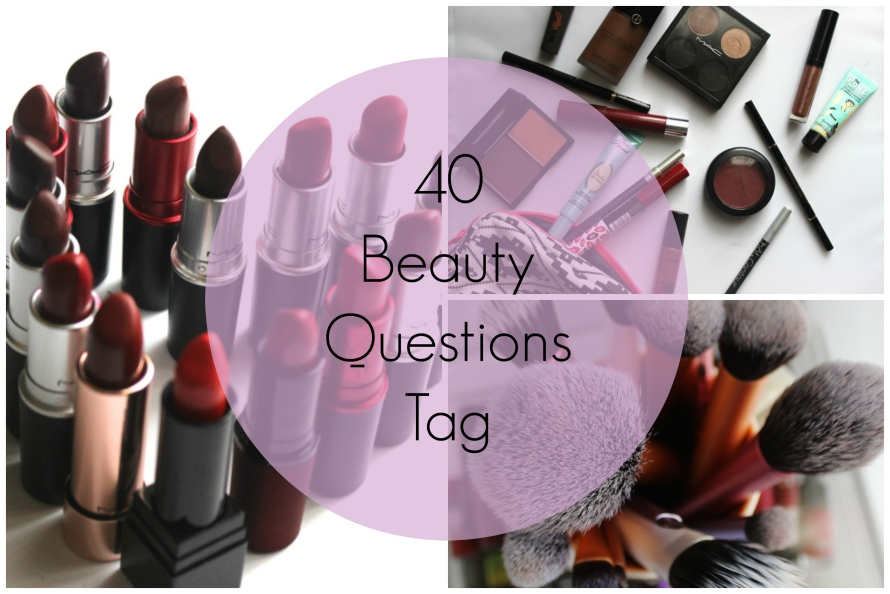 40 Beauty Questions Tag | BeautyBitsBlog.com